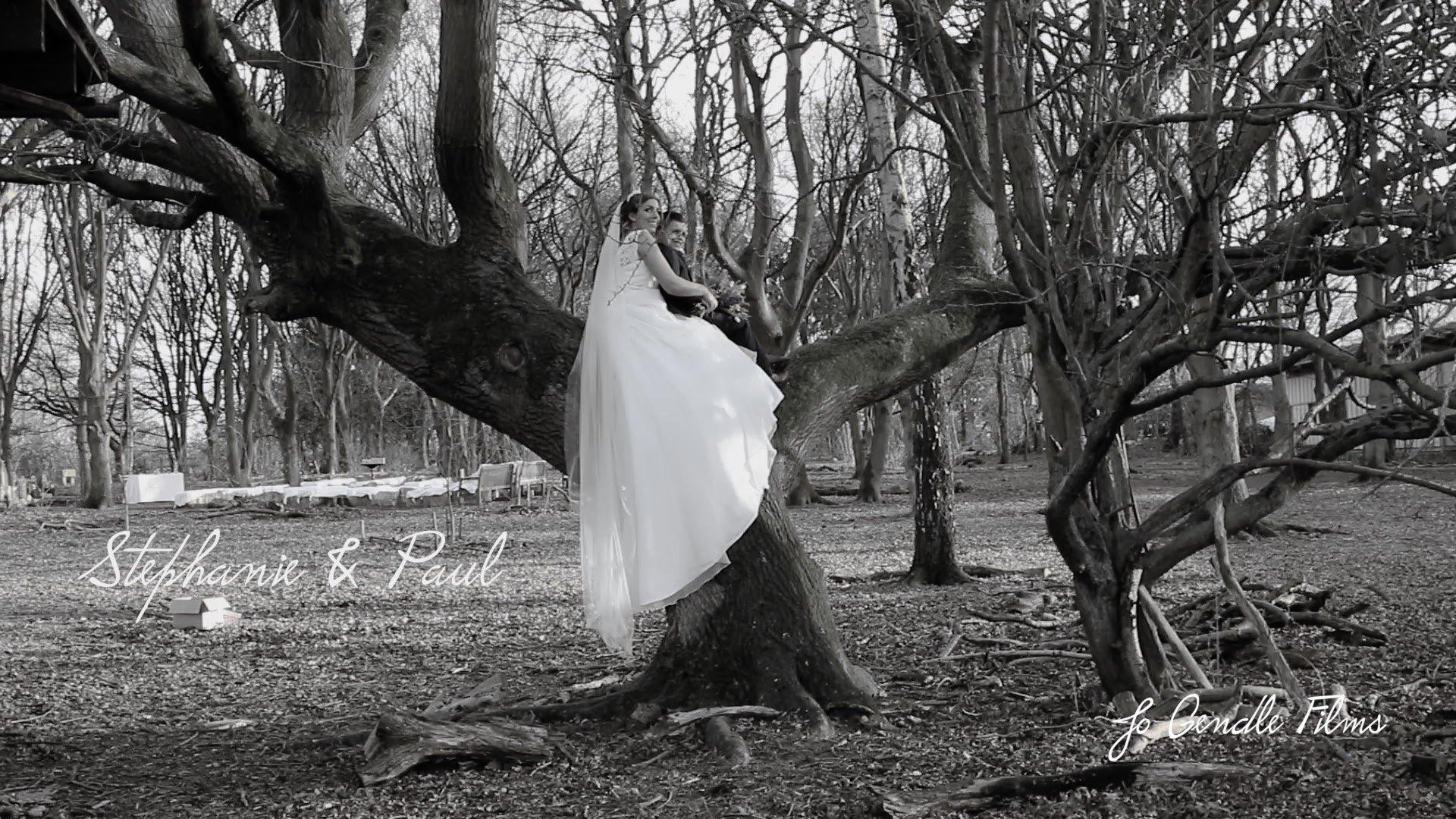 Trafford Hall tree and bride